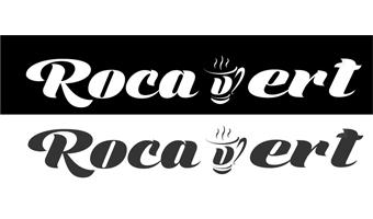 Diseño de logotipo Cafetería Rocavert Sant Cugat http://www.santcugatonline.com